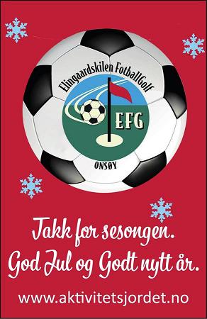 Takk for sesongen. God Jul og Godt Nytt år