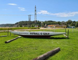 Fotballgolf seilbåt